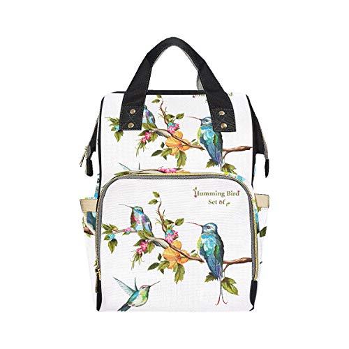 Kolibris Set drei Kolibri Windel Rucksack Tasche Mama Papa ändern große Kapazität Multifunktion moderne Rucksack Wickeltasche für Baby Girl Boy