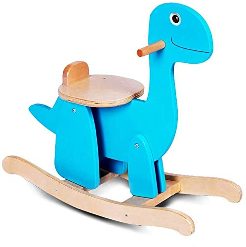 LINGZHIGAN Regalo del niño Caballito de Madera Azul Creativa Dinosaurio de Madera Simple Montaje de...