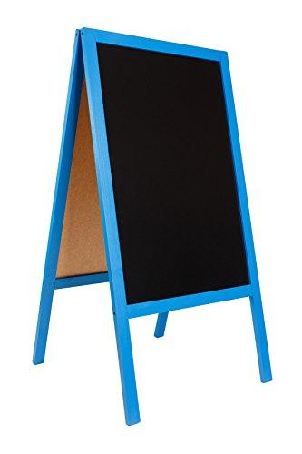 Pizarra de Madera Tabla caballete del pavimento. Encerado para la acera de madera, tablero de gran relación calidad-precio. Código FL BLUE