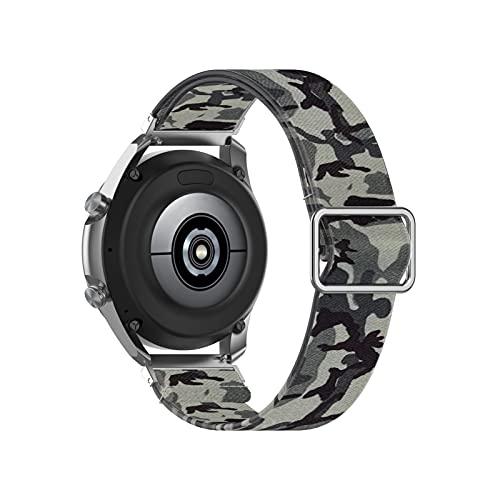 YYCHER Correa de impresión de flores de 20 mm para Samsung Galaxy Watch 3, pulsera de 41 mm, correa de reloj de 22 mm, 46 mm, engranaje S3 para Amazfit (color de la correa: impresión 8, tamaño: 20 mm)