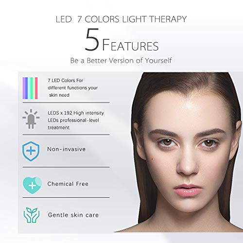 Pro 7Color LED Mask Skin Care Photon Light therapy Mask Electric Therapy For Healthy Skin Face & Neck Skin RejuvenationClinically Tested Home & Salon Aesthetic Mask