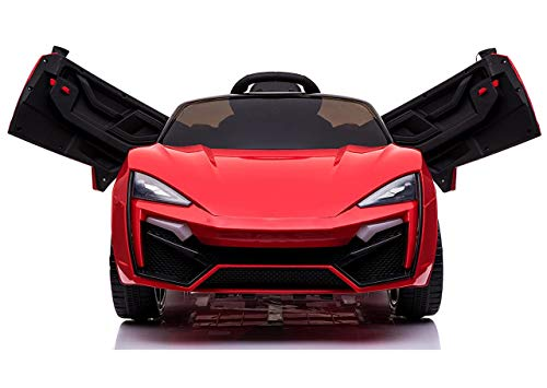 Toy House Fast N Furious Lykan Hypersport Car Rechargeable Battery Operated Ride-On for Kids' (Red)