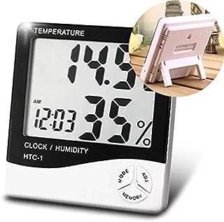 Termo Higrometro Relogio Medidor De Temperatura Digital Humidade De Mesa (56192/1928)