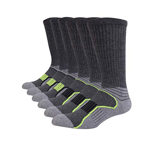 JOYNÉE Mens Athletic Performance Crew Socks for Running and Training 6 Pack
