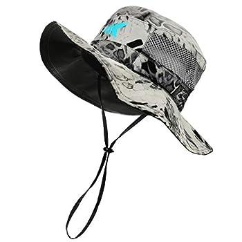 KastKing Sol Armis UPF 50 Boonie Hat - Sun Protection Hat Fishing Hat Beach & Hiking Hat Paddling Rowing Kayaking Hat,Silver Mist