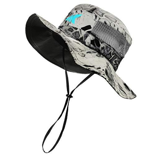KastKing Sol Armis UPF 50 Boonie Hat - Sun Protection Hat, Fishing Hat, Beach & Hiking Hat, Paddling, Rowing, Kayaking Hat,Silver Mist