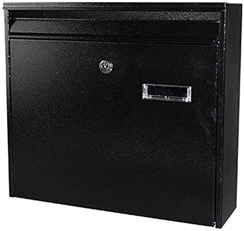 FANNISS /Buzones,Buzones con Sistema de Seguridad,Buzón de buzón Buzón de Seguridad con Bloqueo montado en la Pared de Alta Capacidad Negro Buzón de Seguridad(Color:Black)