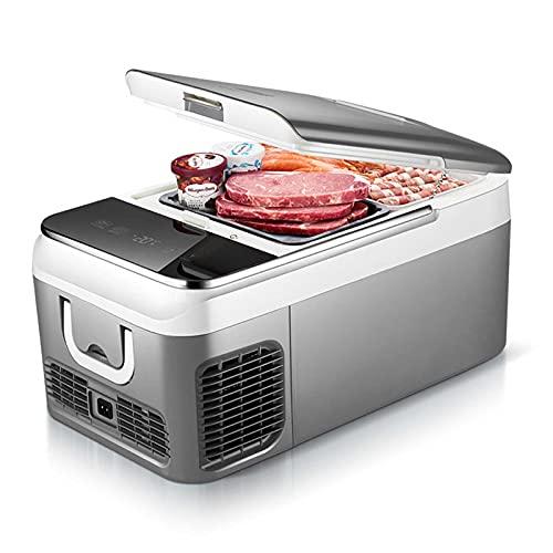 Mini Refrigerador Portátil para Automóvil, Refrigerador De Viaje con Congelador para Automóvil 18L / 26L, 12 / 24V, Refrigerador De Compresor para El Hogar, Camión, RV, Barco Y Camping