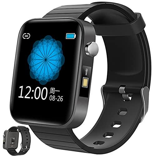 APCHY Smart Watch, 1.54'Pantalla Fitness Tracker con Temperatura Corporal De La Frecuencia Cardíaca Presión Arterial De La Presión Arterial Oxygen Sleep Monitor Pedómetro Tracker,Negro