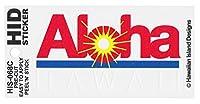 HID ハワイアン サーファー ステッカー(Aloha HAWAII) ハワイアン雑貨 ハワイ 雑貨 お土産 (CLEAR)