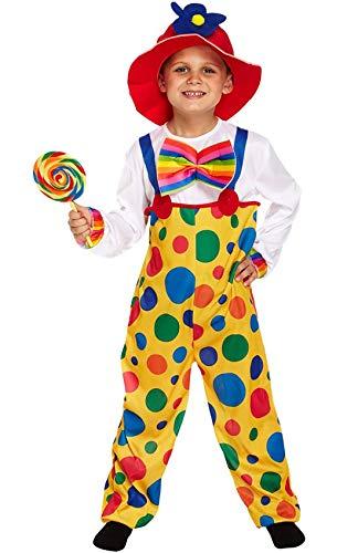 Enfants spot de clown de cirque Fancy Dress Costume Small Size 4-6 ans [Jouet]