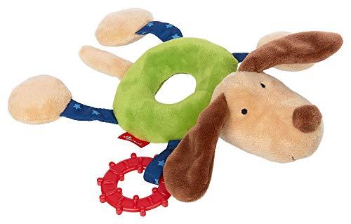 sigikid, Mädchen und Jungen, Ringgreifling Hund, Babyspielzeug, empfohlen ab 3 Monaten, grün/beige, 42422