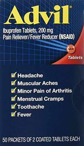 Advil Ibuprofen, 200mg, 2 Count (Pack of 50)