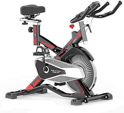 Girar la bici, LCD multifunción Lee ritmo cardíaco, etc, manillar ajustable del asiento Resistencia, bicicleta estática electromagnética for el hogar con el teléfono móvil Plataforma rueda en movimien