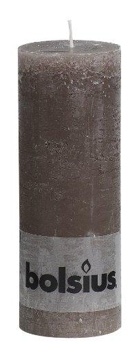 BOLSIUS RUSTIK Stumpenkerzen 190 x 68 mm taupe