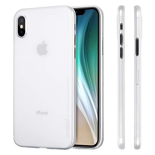 memumi Funda para iPhone X, Ultra Slim Anti-Rasguño y Resistente Huellas Dactilares Totalmente Protectora Caso de Plástico Duro Cover Case Compatible con iPhoneX [Slim Series]