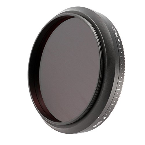 Ruili 52mm Six-in-One Adjustable Infrared IR Pass X-Ray Lens Filter 530nm to 750nm Screw-in Filter for Canon Nikon Sony Panasonic Fuji Kodak DSLR Camera