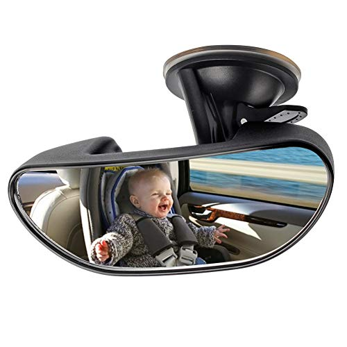 GES Baby Car Backseat Mirror,360 Degree Adjustable Strengthen Suction Cup...