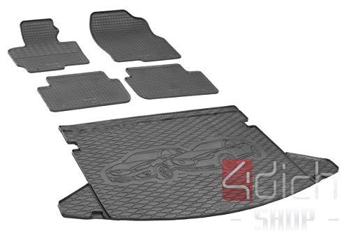 Passgenaue Kofferraumwanne und Gummifußmatten geeignet für Mazda CX-5 ab 2012 - EIN Satz