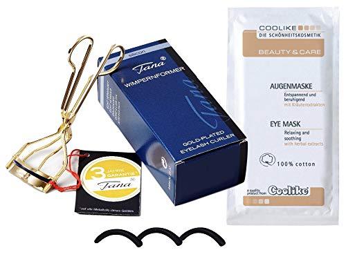 Tana Cosmetics® Wimpernformer Silicon - Wimpernzange + 3 Ersatzsilikone + Coolike Augenmaske
