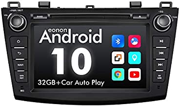 2021 Newest Android Car Stereo Android 10 Double Din Car Stereo, Eonon Car Radio Applicable to Mazda 3 Series Support Apple Carplay/Android Auto/Fast Boot/DVR/Backup Camera/OBDII -8 Inch -GA9463
