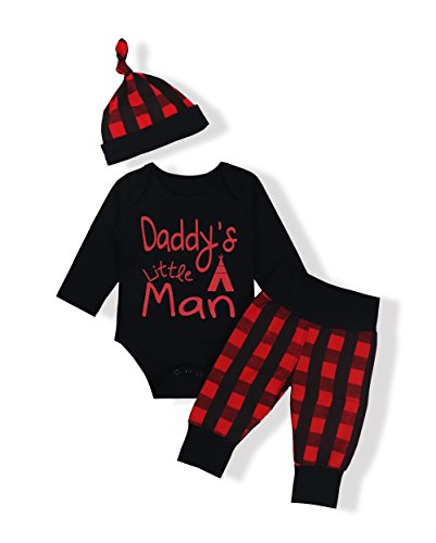 Oklady Baby Boys Girls Clothes Daddy's Little Man Print Bodysuit Outfits Clothes...
