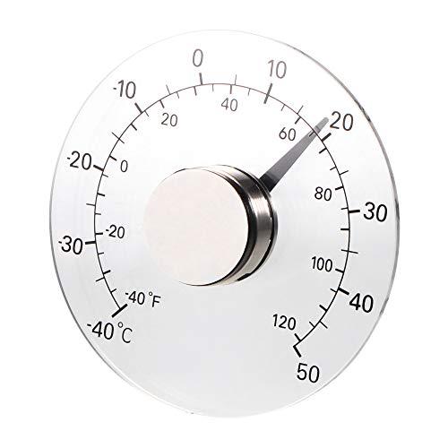 GreenCC Medidor de Temperatura y Humedad para Interiores y Exteriores, Redondo higrómetro, termómetro analógico Monitor para habitación de bebé, Invernadero [Clase energética A]