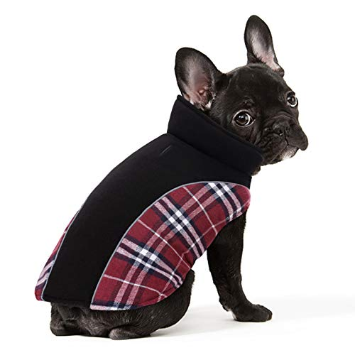PREFERHOUSE Reversible Warm Dog Jacket, Splicing Plaid Dog Winter Coat, Reflective Adjustable Pet...