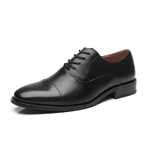 La Milano Men Dress Shoes Lace Up Oxford Classic Plain Toe Modern Formal Leather Shoes for Men