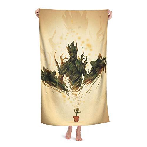 Groot - Toalla de baño superabsorbente, suave, cómoda, de secado rápido, tela de microfibra superabsorbente, para ducha, spa, sauna, playa, gimnasio, albornoz (31 x 51 pulgadas)