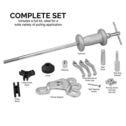 NEIKO 02236A Slide Hammer   17 Pc Automotive Bearing Hub Puller Kit   Axle Seal Pulling