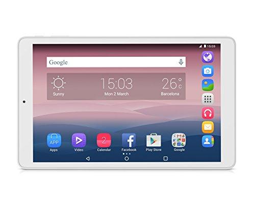 Alcatel One Touch Pixi3 Tablet, Display IPS TFT da 10 , Risoluzione 1280x800, Processore Quad Core da 1.3 Ghz, RAM da 1 GB, HDD da 4 GB, Bianco