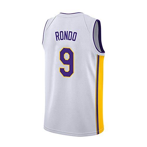 ZJJY Maglia Basket Rajon Rondo # 9 Jersey di Pallacanestro degli Uomini di NBA, Traspirante Ricamato Felpa Fitness T-Shirt Resistente all'Uso Fan Shirt, XS-XXL, L011XQ (Size : L)