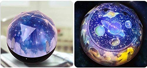 Leilims Projecteur Étoile Night Light Night Light Magic Planet Projecteur Terre Univers LED Lampe colorée Rotation Clignotant Star Kids bébé Cadeau de Noël irrotiol (Color : Irrotional)