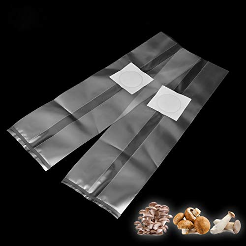 EgBert 10Pcs 250x500x0.06mm PVC Mushroom Spawn Grow Bag Substrate High Temp Pre Sealable Garden Supplies