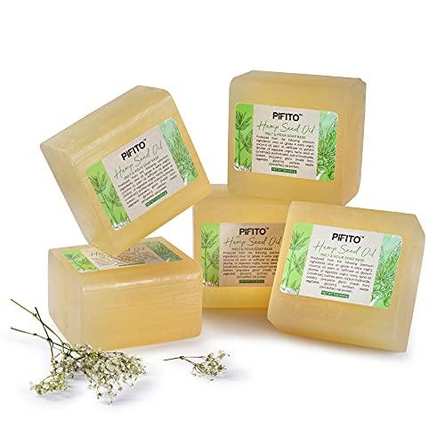 Pifito Hemp Seed Oil Melt and Pour Soap Base (5 lb) │ Bulk Premium 100% Natural Glycerin Soap Base │ Luxurious Soap...