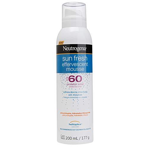 Protetor Solar Sun Fresh FPS60 Mousse Efervecente, Neutrogena, 200ml