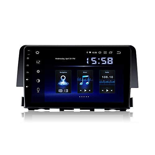 Reproductor multimedia para automóvil 9'Android 9.0 1 Din Estéreo para automóvil Bluetooth incorporado DSP 4G RAM 64G ROM para Honda Civic 2015 2016 2017 Unidad principal de radio para automóvil DAB