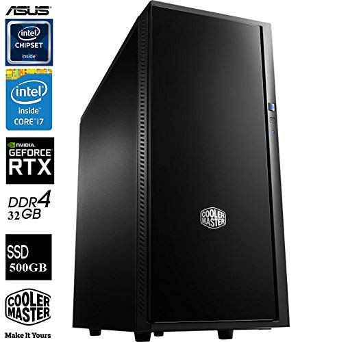 SNOGARD Advanced GAMER PC Intel® Core i7-8700K 6x 3700MHz Coffee Lake • 8GB nVidia GeForce RTX 2080 OC • 32GB DDR4-RAM • 4TB Festplatte + 500GB SSD • DVD/Blu-ray Brenner • DirectX 12 • Business & Multimedia & Gaming Desktop Computer