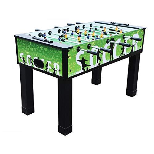 WHTBB Foosball Table - Handel Turnier Qualität Tabelle Fussball Spiel Sized Foosball Indoor Freizeit for Spielzimmer Metall 54