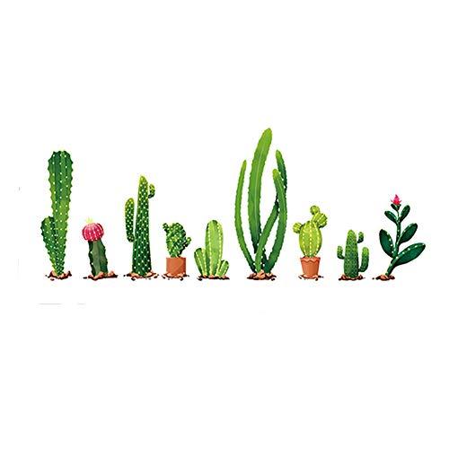 Hacoly - Adhesivo Decorativo para Pared de Cristal, para habitación de bebé, Cactus