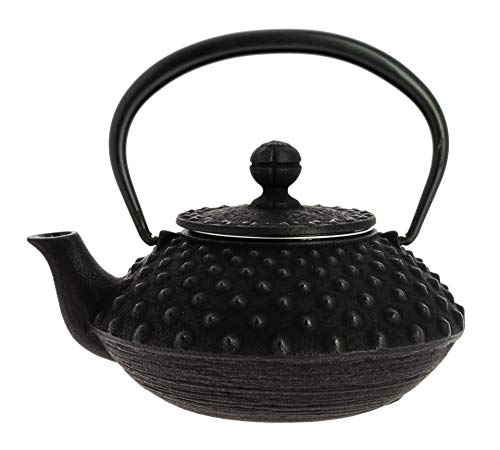 Iwachu Japanse Traditionele Arare Design Gietijzeren theepot met Filter 330 ml Zwart