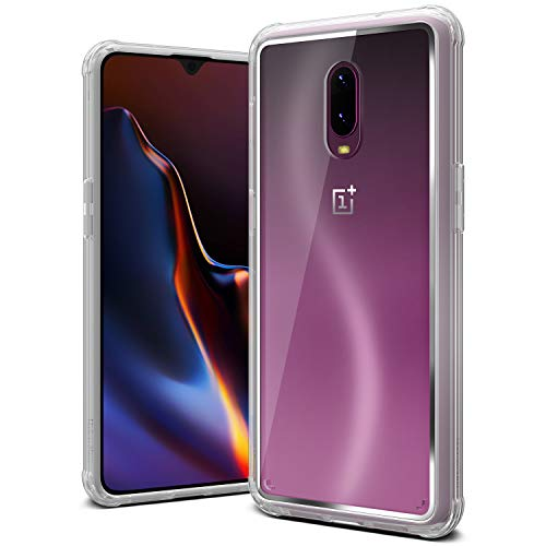 OnePlus 6T Case, VRS Design [Transparent] Clear Dual Layer Heavy Duty Protection [Crystal Chrome] No Yellowing PC Body Bumper Compatible with OnePlus 6T (2018)