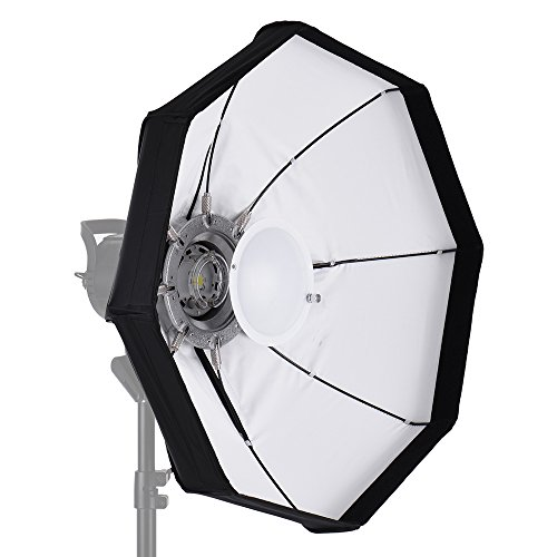 Andoer 8-Pole 60 cm Bianco Pieghevole Beauty Dish Softbox con Bowens Mount per Studio Strobe Flash Light