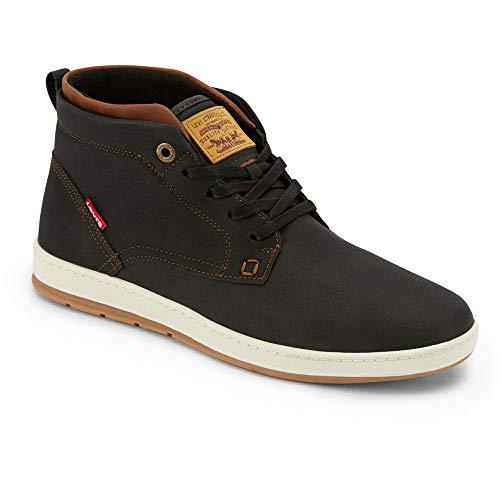 Levi's Mens Goshen Waxed UL NB Casual Sneaker Boot, Black/Tan, 9 M