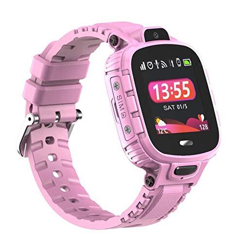 Zwbfu Reloj Inteligente para niños 1.44 '' Pantalla táctil LBS WiFi Ubicación Reloj Inteligente para niños Llamada telefónica SOS Voice Video Chat 50W Cámara Alarma IP67 Reloj de Pulsera Impermeable