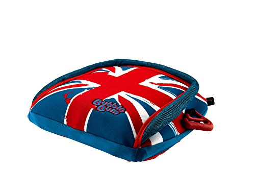 BubbleBum Inflatable Backless Travel Booster Car Seat, Union Jack