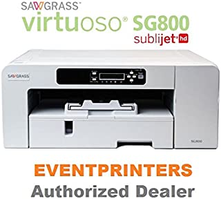 Sawgrass Virtuoso SG800 Printer - BUNDLE - with complete set of SUBLIJET HD inks and 110 sheets of sublimation paper
