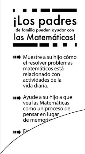 Parents Can Help with Math - English/Spanish Bilingual edition (Bookmarks - sold in bundles of 20)