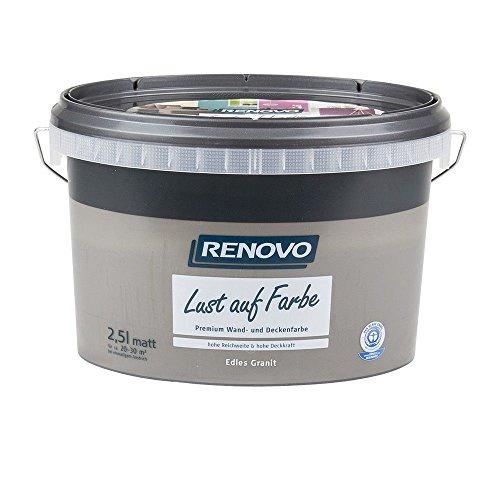 Trendfarbe Edles Granit 2,5 L Renovo Lust auf Farbe - Wandfarbe Deckenfarbe
